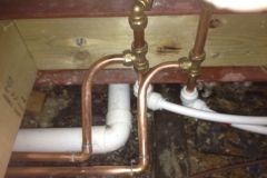 burst pipe repaired