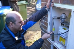 tightness testing on gas meter